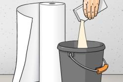 Важно правильно развести клей для обоев, соблюдая все инструкции