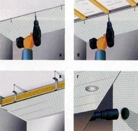 Устройство потолков: натяжные, подвесные, из ПВХ-панелей