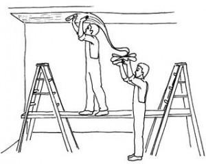 Стеклообои на потолок: как клеить их правильно