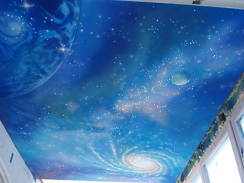 Потолок в детской звездное небо – чудо для вашего малыша