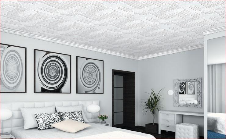 Поклейка потолочной плитки: технология