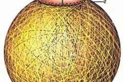 Пример плафона из ниток