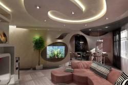 Абстрактный подвесной потолок