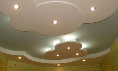 Многоярусные потолки оригинальных форм