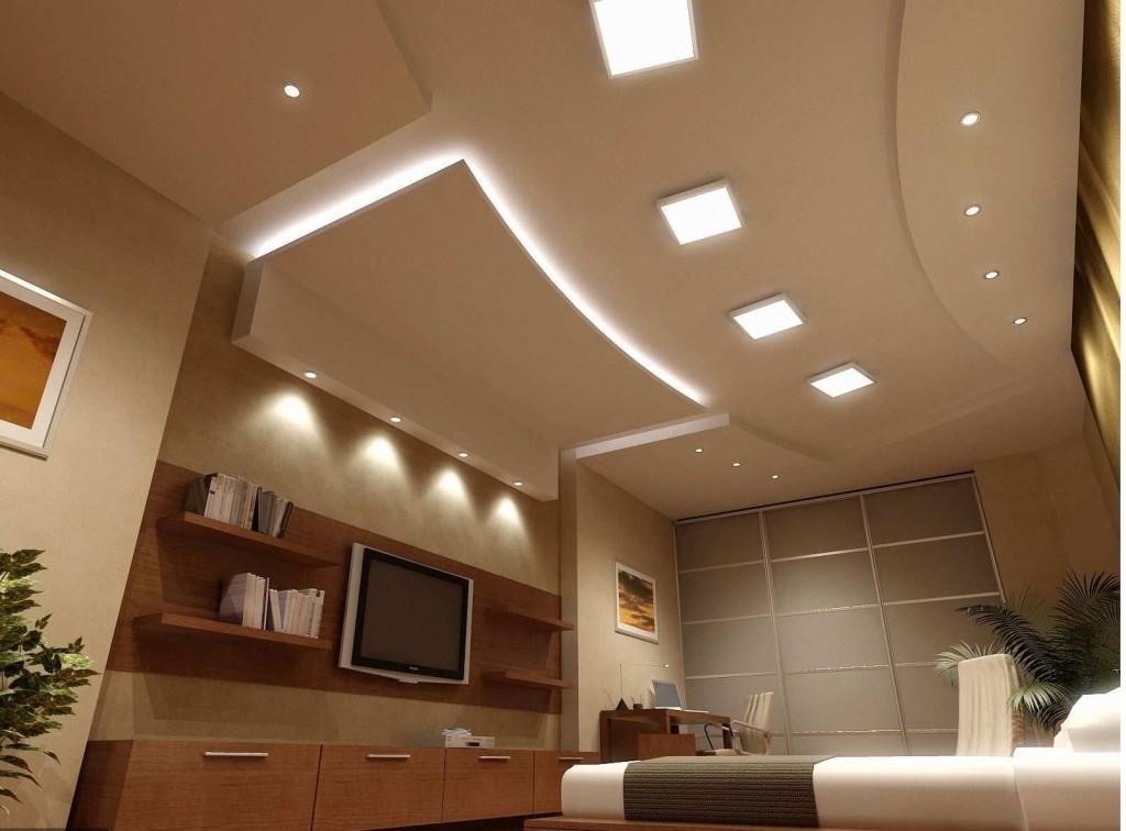 Потолочная гипсокартонная конструкция считается не только прекрасным дополнением к стилю интерьера, но и превосходно скрывает дефекты и неровности потока, маскирует электропроводку и коммуникации.