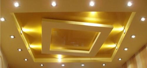 Пример потолка из гипсокартона