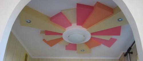 Потолок из гипсокартона солнце
