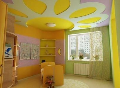 Пример подвесного потолка для детской