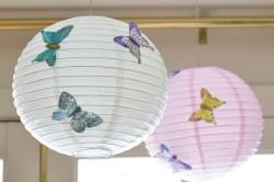 Пример плафонов из бумажных шариков