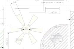 Схема размещения солнца из гипсокартона в детской