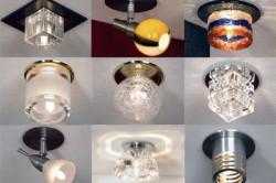 Формы светильников для потолка