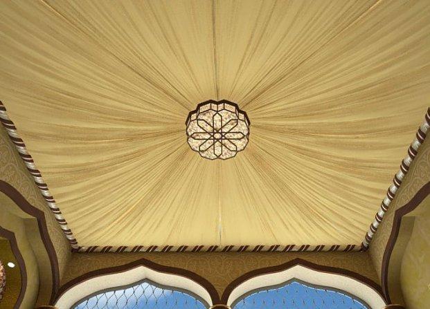 Драпировка потолка тканью: от восточного убранства и до европейского