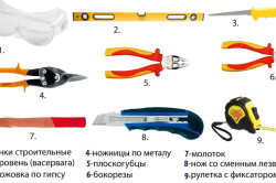 Набор ручного инструмента для монтажа подвесного потолка