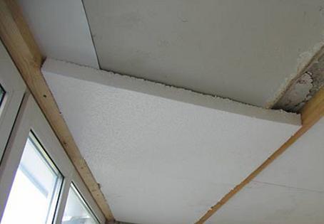 Утепление потолка лоджии или балкона