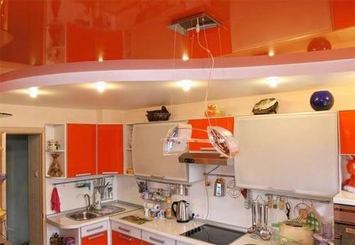 Как сделать потолок на кухне: варианты отделки