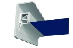 Штапиковое крепление является недорогим и эффективным способом монтажа натяжных потолков