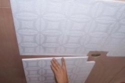Монтаж плит из пенополистирола в ванной