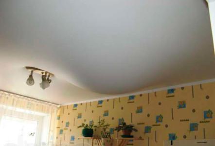 Натяжной потолок залитый водой
