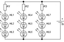Параллельное соединение светодиодов