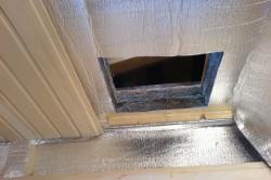 Процес отделки потолка бани вагонкой