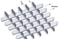 Схема ячеистого подвесного потолка