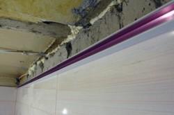 Торцевой профиль реечного потолка