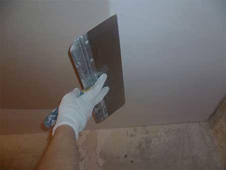 Шпаклёвка потолка под покраску своими руками фото 60
