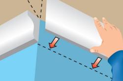 Схема монтажа потолочного плинтуса