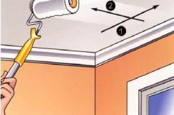 Схема направлений окраски потолка