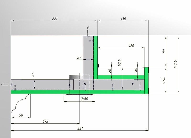Схема натяжного потолка с подсветкой