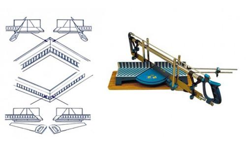 Схема подрезки потолочных плинтусов в стусле