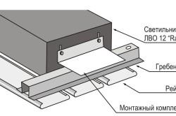 Схема профиля подвесного потолка