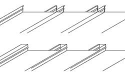 Схема разновидностей реечных потолков на кухне