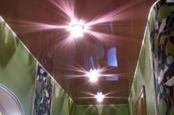 Освещение шоколадного потолка