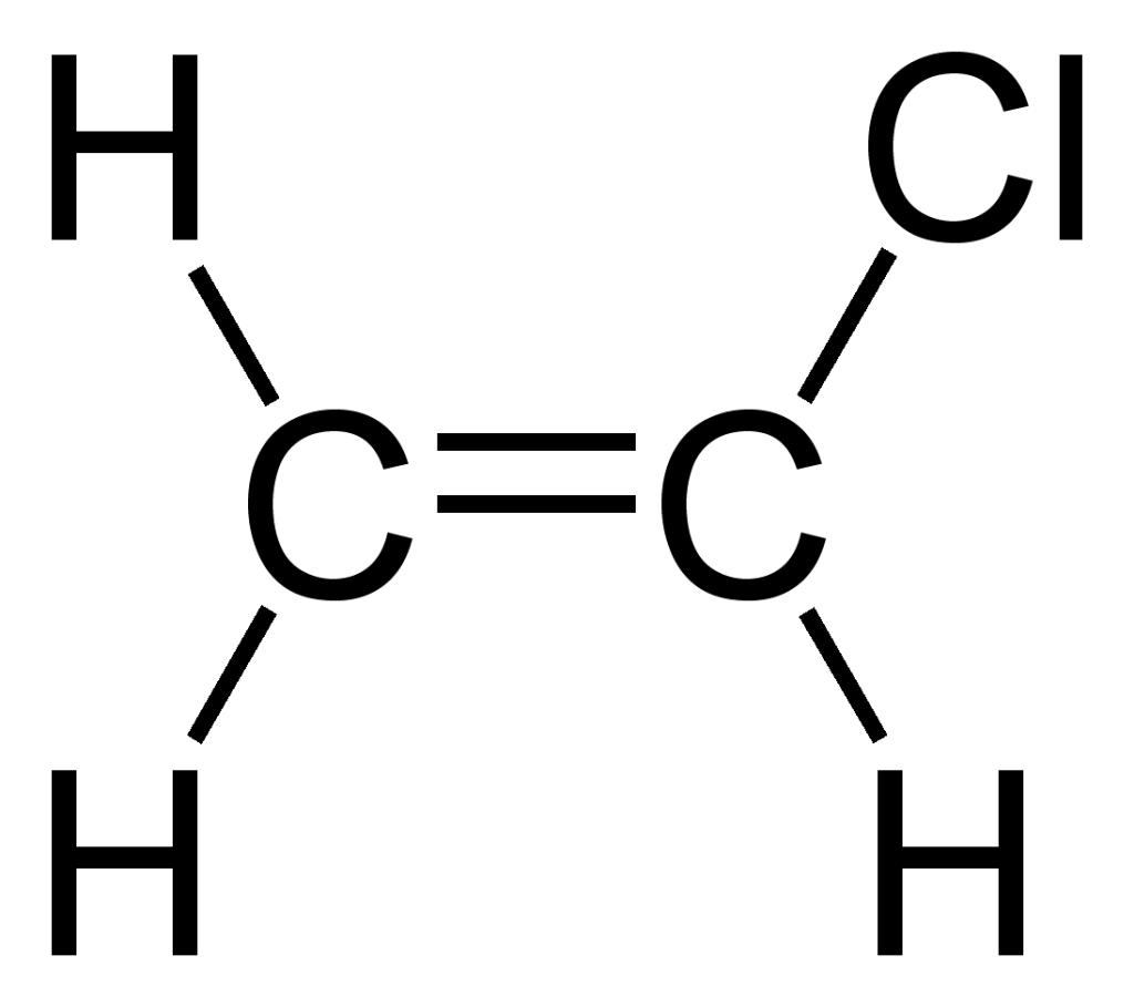 Химическая формула поливинилхлорида.