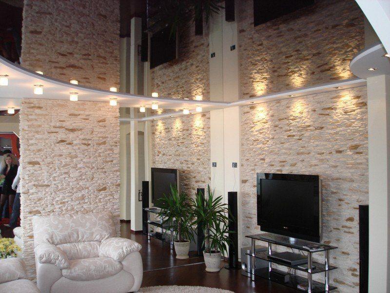 Черный потолок дизайн