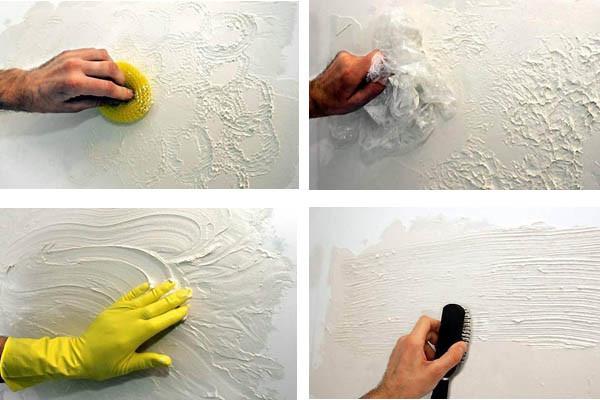 Как сделать своими руками фактурную штукатурку из шпаклевки