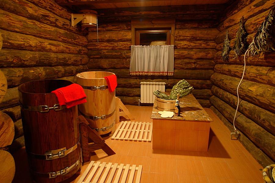 Внутреннее убранство бани
