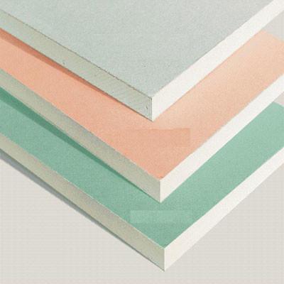 Гипсокартон (ГКЛ)* — отделочный строительный материал, представляющий собой лист, состоящий из двух слоев строительной бумаги (картона) и сердечника из слоя затвердевшего гипсового теста с наполнителями.