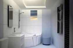 ГКЛВ потолок в ванной
