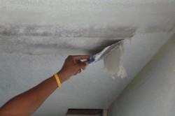 Чстка потолка от побелки