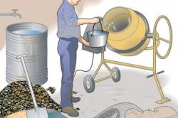 Изготовление бетонной заливки