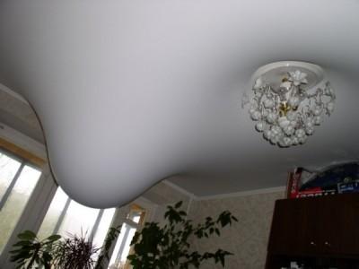 Натяжные потолки защищают от протечек сверху.