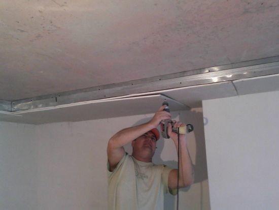 Короб из гипсокартона под натяжной потолок своими руками