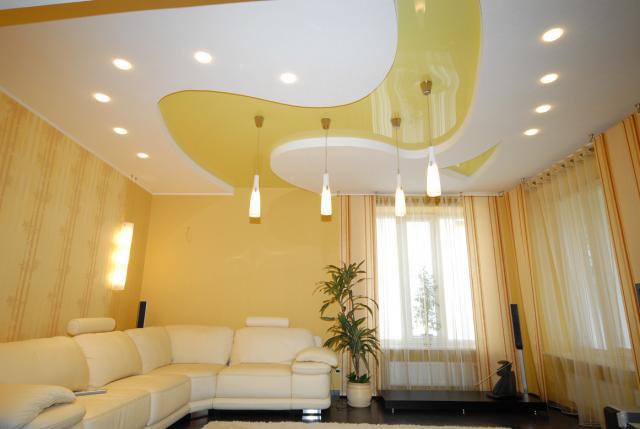 Красивые потолки: современные дизайнерские решения (фото)