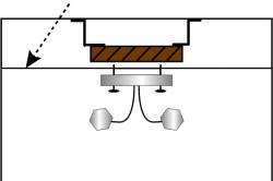 Схема конструкции для монтажа люстры.