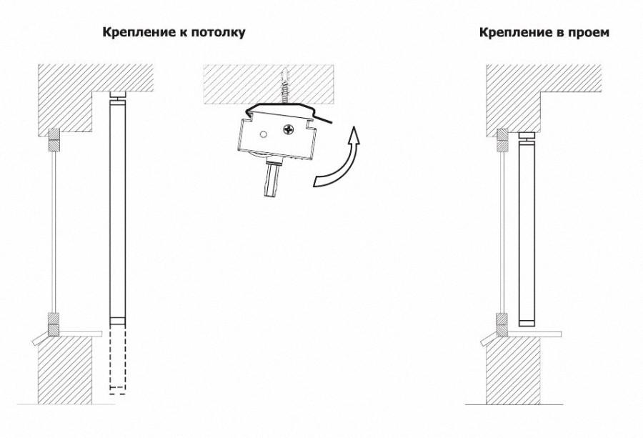 Схема монтажа вертикальных