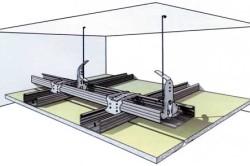 Схема монтажа комбигированных потолков