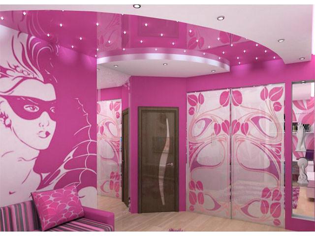 Дизайнерская задумка с использованием натяжных потолков