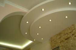 Конструкции гипсокартонных потолков с подсветкой открытого типа